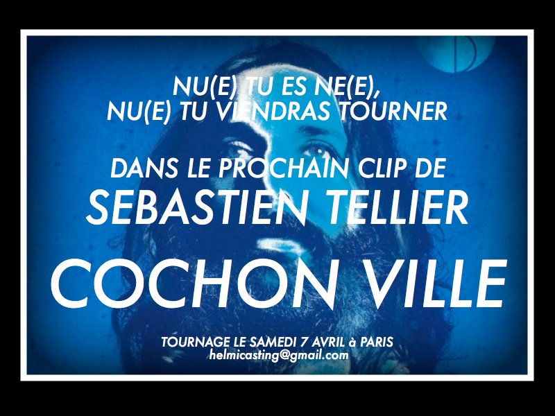 Image tirée de la page Facebook de Sebastien Tellier