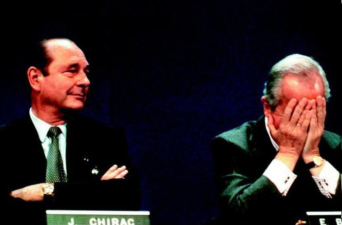 Jacques Chirac et Edouard Balladur, 1995